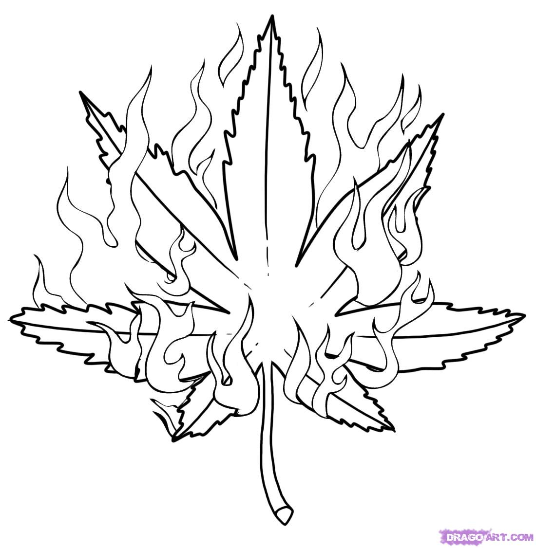 Weed Coloring Pages Weed Leaf Coloring Pages Color Bros