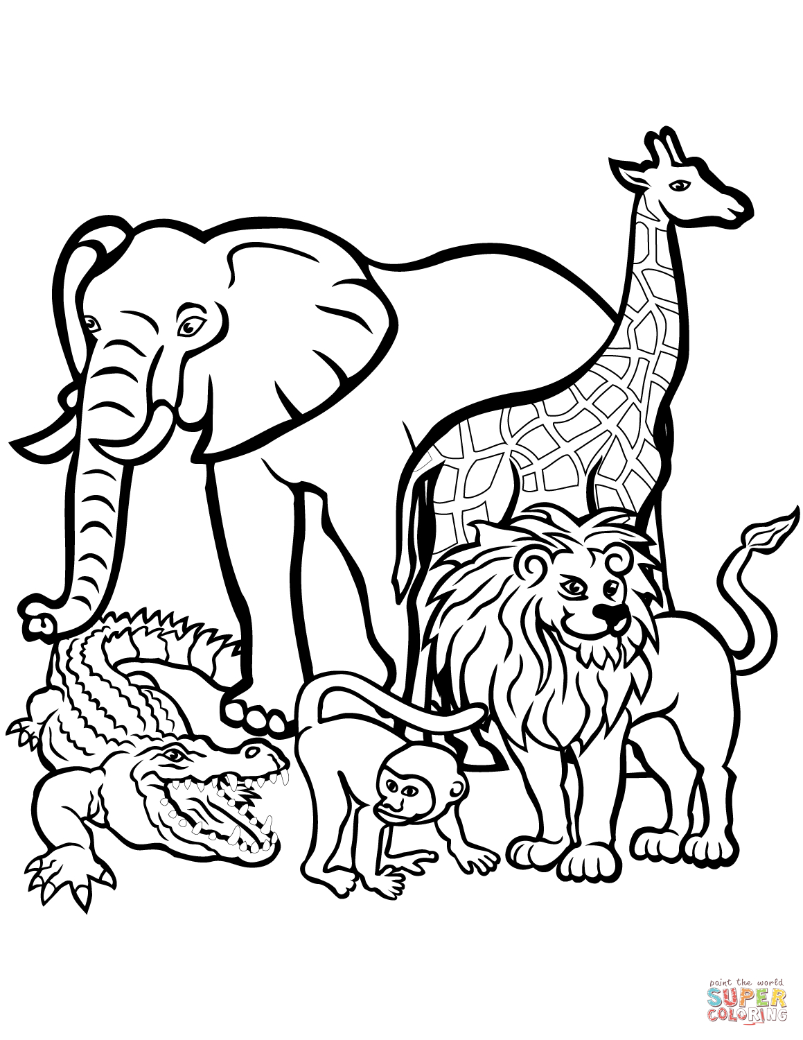 10+ Elegant Image of Wild Animal Coloring Pages - birijus.com
