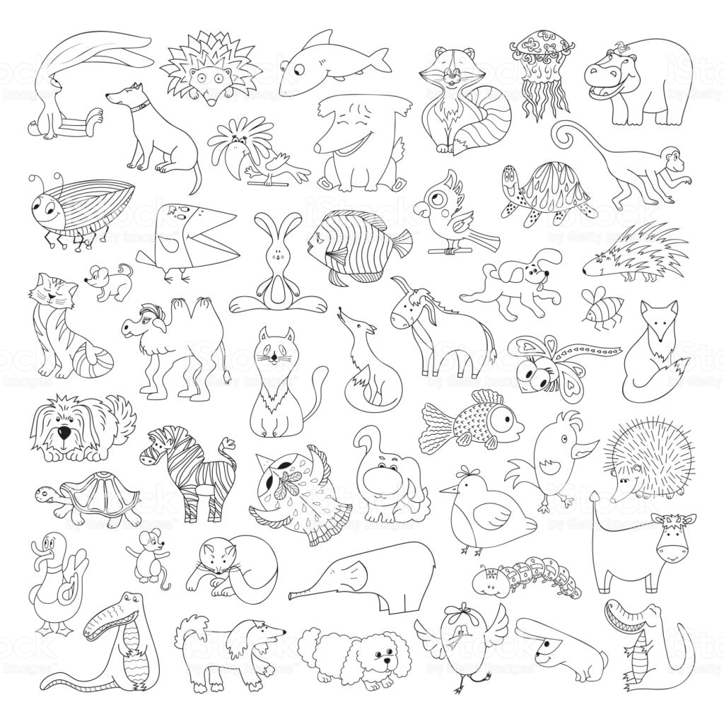 Forest scene coloring page - Print. Color. Fun! | 1024x1024