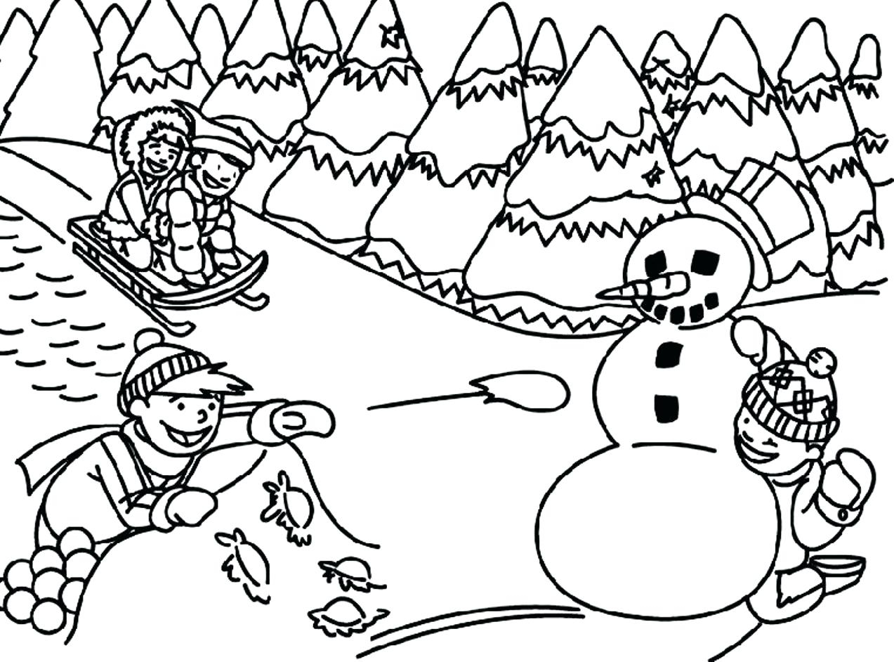 - Creative Photo Of Winter Coloring Pages For Kids - Birijus.com