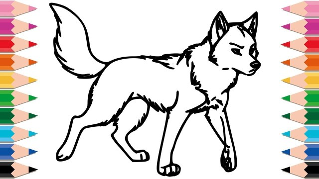 Wolf Coloring Pages How To Draw Wolf Coloring Pages For Kids Drawing Animals Learn
