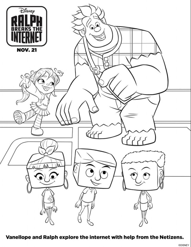 Wreck It Ralph Coloring Pages Coloring Page 54 Extraordinary Wreck It Ralph Coloring Pages