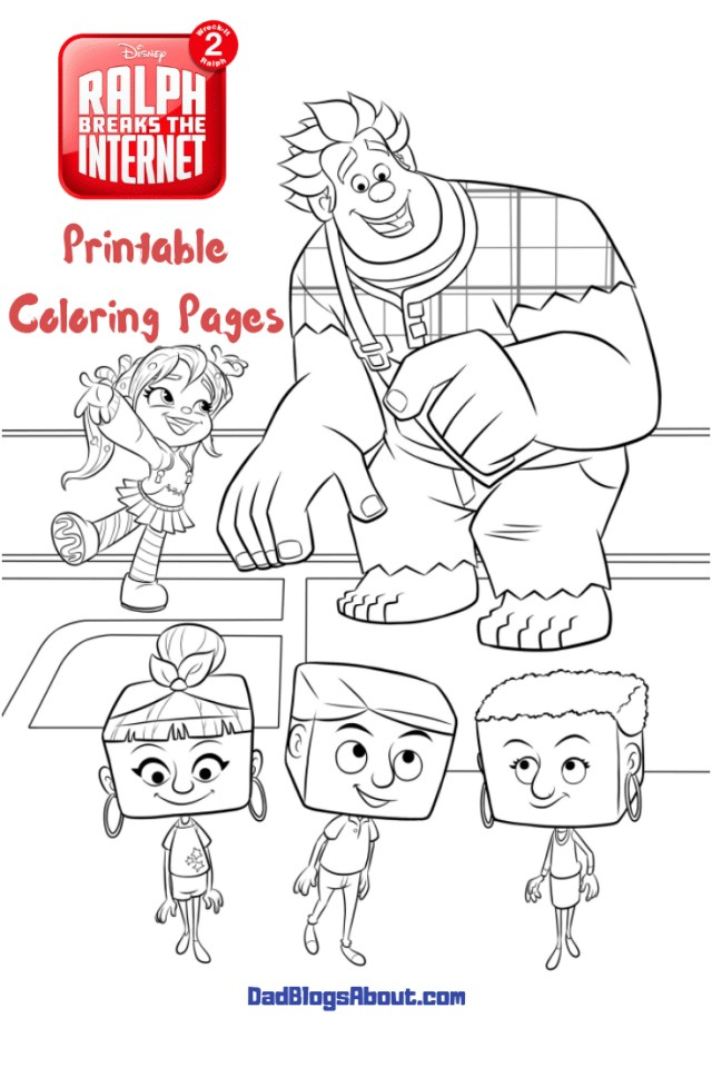 Wreck It Ralph Coloring Pages Ralph Breaks The Internet Wreck It Ralph 2 Printable Coloring Pages