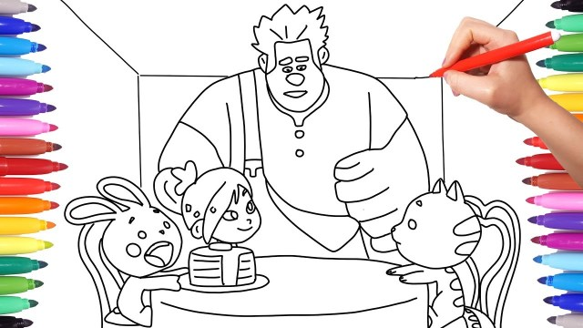 Wreck It Ralph Coloring Pages Wreck It Ralph 2 Ralph Breaks The Internet Coloring Pages How To