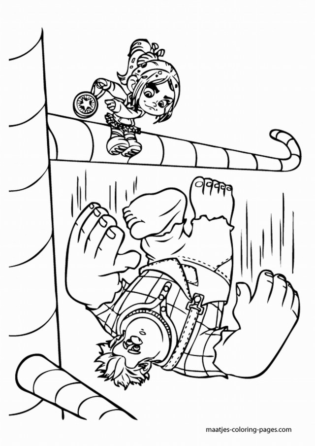 Wreck It Ralph Coloring Pages Wreck It Ralph Coloring Pages