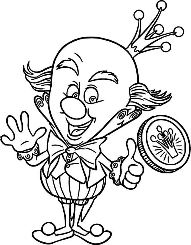 Wreck It Ralph Coloring Pages Wreck It Ralph King Candy Medal Coloring Page