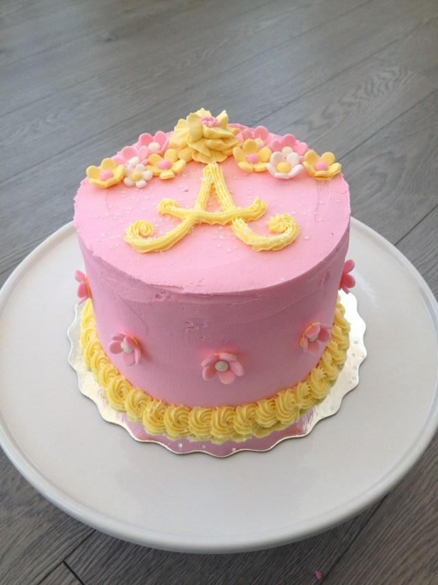 Yellow Birthday Cake Pink Yellow Birthday Cake Party Ideas Pinterest Yellow