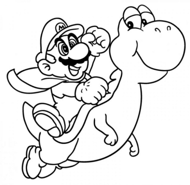 Yoshi Coloring Pages Yoshi Coloring Pages Free Download Best Yoshi Coloring Pages On