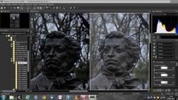 Bild: Die Detailansicht innerhalb von Capture NX-D zeigt die Unterschiede zwischen RAW Datei und ausbelichtetem Foto. Klicken Sie auf das Bild um es zu vergrößern.