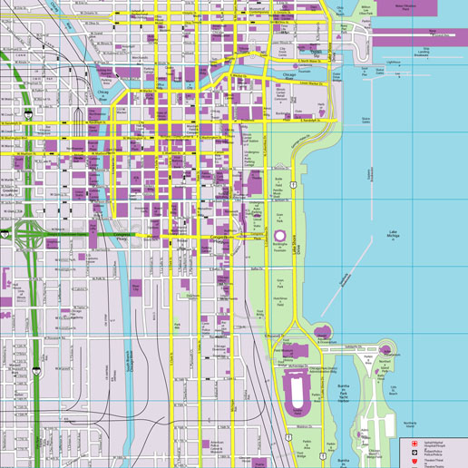 Chicago CityFlash Street Map