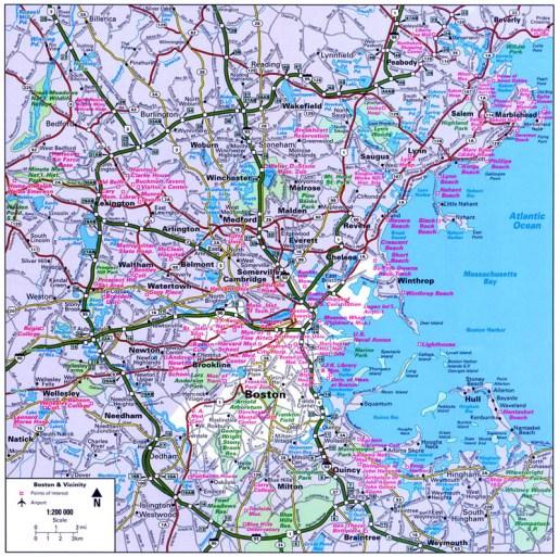 Boston Vicinity CityFlash Map
