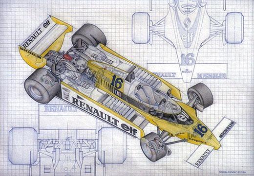 Renault Elf Racing Car - Color
