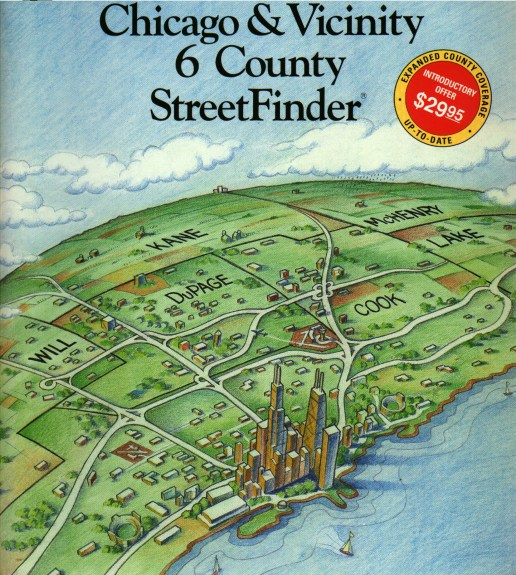 Rand McNally StreetFinder Cover Illustration