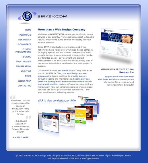 BIRKEY.COM in 2006