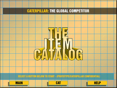 The Item Catalog - Opening Screen