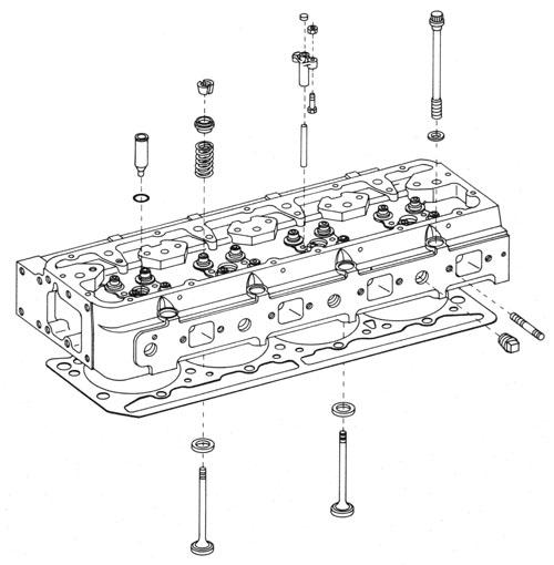 Exploded Engine Diagram Head. Parts. Auto Parts Catalog