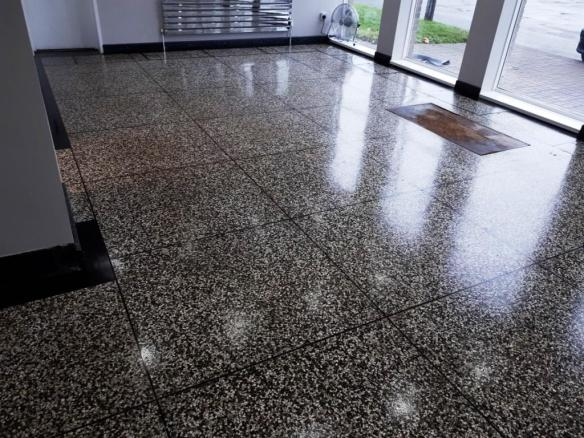 Terrazzo Floor Before Cleaning Oldbury West Bromwich