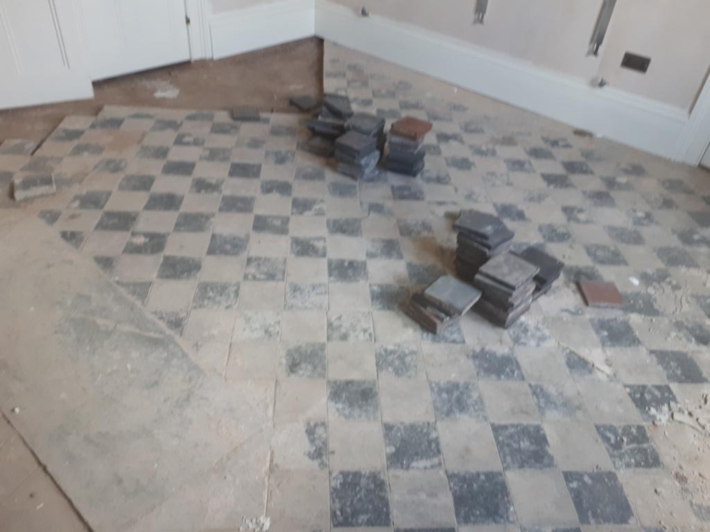 Quarry Tiled Floor Before Renovation Harborne
