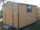 This type of storage shed is not included in an appraisal