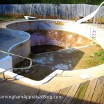 Is an empty pool a required FHA repair?