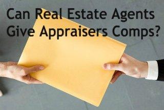 real estate agent giving appraiser comps