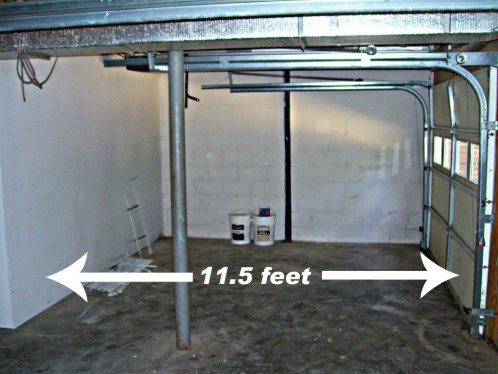 basement garage too small for car