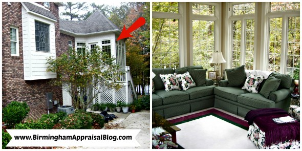 sunroom that can be added to gross living area