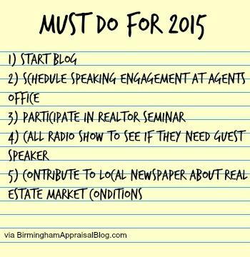 2015 appraiser to do 2