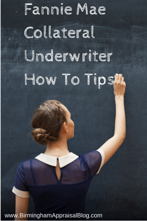 fannie mae collateral underwriter tips