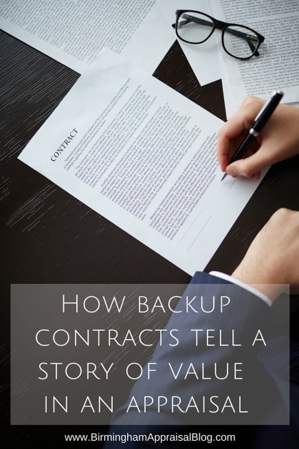How backup contracts tell a story of value in an appraisal
