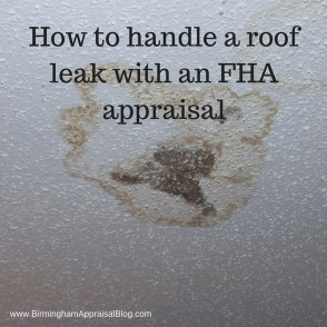 FHA roof leak