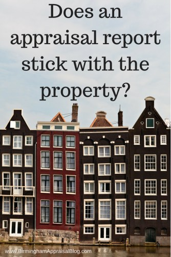 appraisal report stick with property