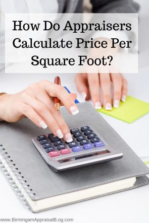 how do appraisers calculate price per square foot
