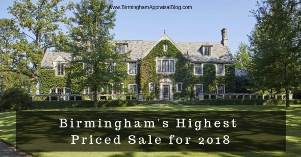 Birmingham highest priced sale 2018