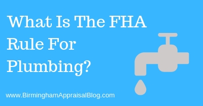 What Is The FHA Rule For Plumbing