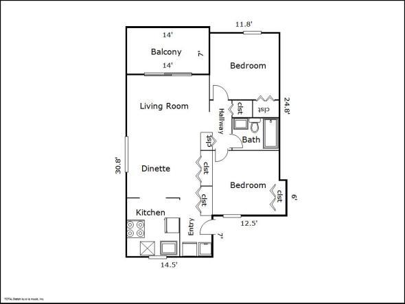 Birmingham floor plan sketch