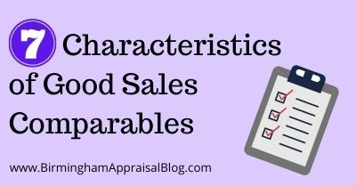 Characteristics of Good Sales Comparables