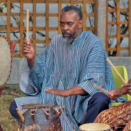 African drumming class with FIESHAH AMLAK