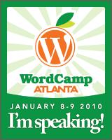 I'm speaking at WordCamp Atlanta!