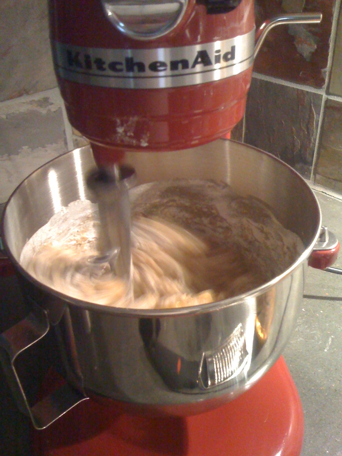 Butternut Squash Bread in the Mixer