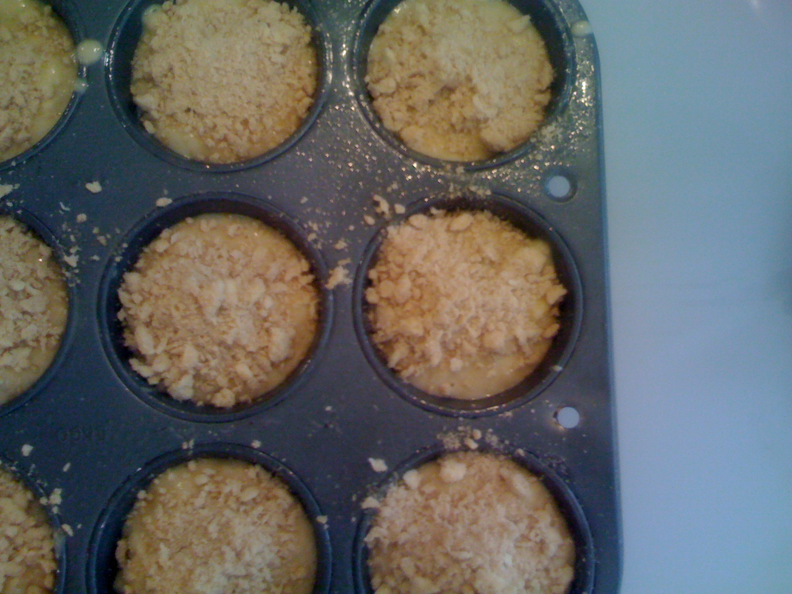 Apple Streusel Muffins Ready to Bake