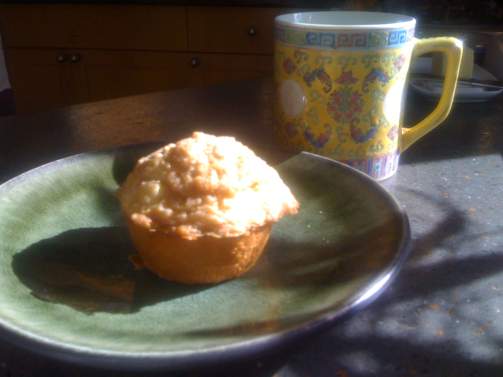 Apple Streusel Muffin and Coffee