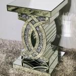 Crushed Diamond Cc Side Table Birmingham Furnishings