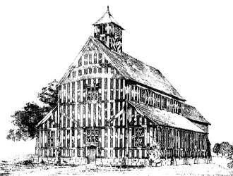 church bateman conjectural within drawing charles medieval birmingham georgian existing rebuilding timbers based