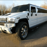 Hummer Limo Hire Birmingham side view