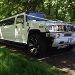 White_Hummer limo hire xterior
