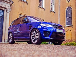 range rover svr sports car