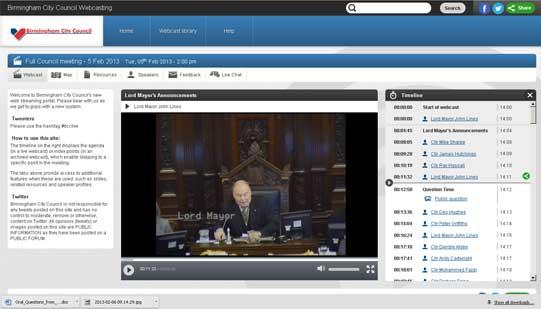 Webcast screengrab