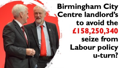 Photo of Birmingham City Centre landlord's to avoid the £158,250,340 grab from Labour policy?