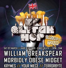 UK Glitch Hop Award Tour @ Hare & Hounds (Kings Heath), Sat 1st March